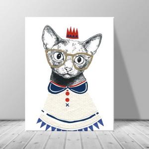 인테리어 동물 고양이 캔버스 액자 zo(39)