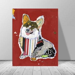 인테리어 동물 강아지 팝아트 캔버스 액자 zo(40)
