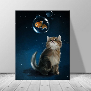 인테리어 카페 동물 고양이 캔버스 액자 zo(52)