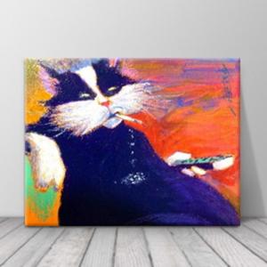 북유럽 카페 동물 고양이 일러스트 액자 zo(64)