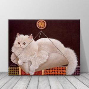 북유럽 카페 동물 고양이 일러스트 액자 zo(63)