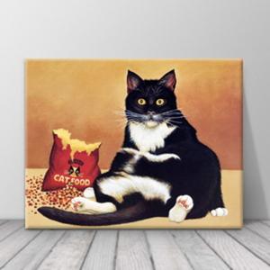북유럽 카페 동물 고양이 일러스트 액자 zo(67)