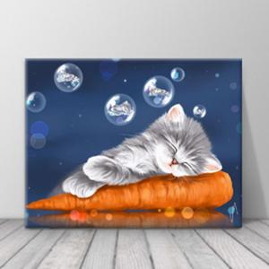 북유럽 카페 동물 고양이 일러스트 액자 zo(70)