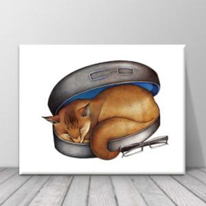 북유럽 카페 동물 고양이 일러스트 액자 zo(69)