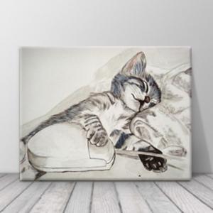 북유럽 카페 동물 고양이 일러스트 액자 zo(72)