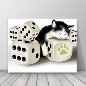 북유럽 카페 동물 고양이 일러스트 액자 zo(73)