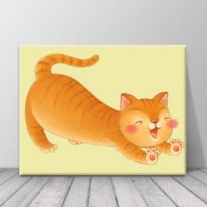 북유럽 카페 동물 고양이 일러스트 액자 zo(74)