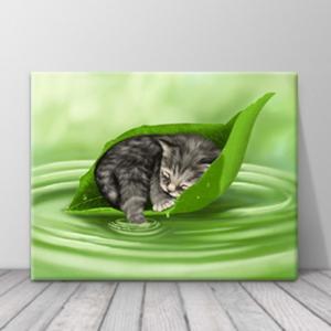 북유럽 카페 동물 고양이 일러스트 액자 zo(75)