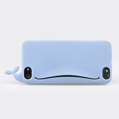 Whale Feed me for iPhone5 (blue) - 카드현금이어폰 수납