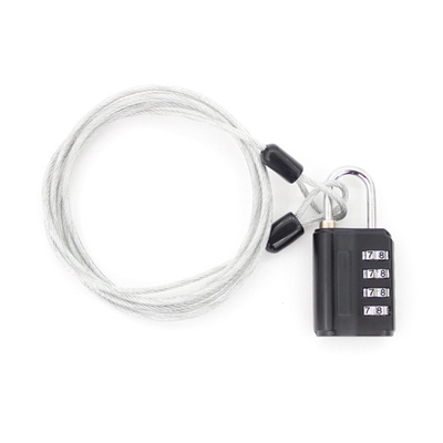 TCUBE - 멀티 안전케이블 + 4다이얼 안전자물쇠 세트 - 2.5M
