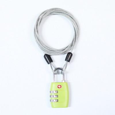 TCUBE - TSA 3다이얼 자물쇠 + 멀티 안전케이블 - 1.5M