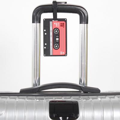여행가방 레트로 네임텍 - 카세트 테이프