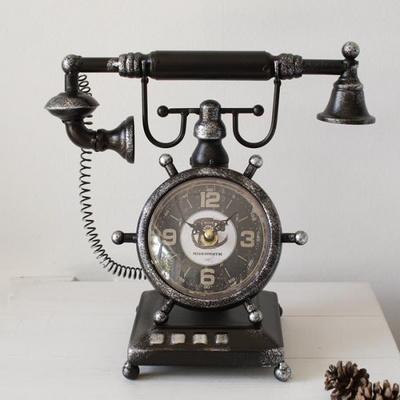 전화기 빈티지 시계-2type
