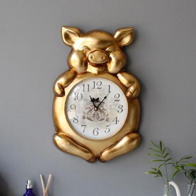 복 돼지 벽시계 - 2color