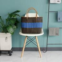 라탄 와이어 빨대 가방 (목욕가방,수영장가방,비치백,물놀이가방) - 블루