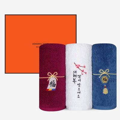 송월 리본복 170g 3매 선물세트