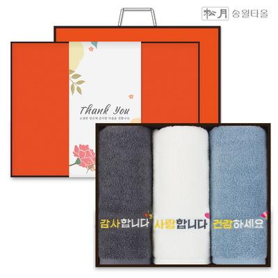 송월타올 가정의달 스승의날 수건선물세트 3P+감사장
