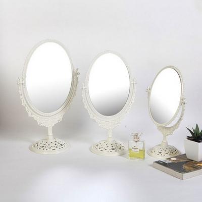 젬-아이보리 스텐딩 장미 거울