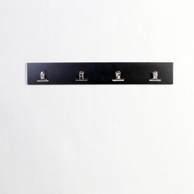 우드 스트립 4P 사진 그림걸이 클립 벽걸이 800-블랙