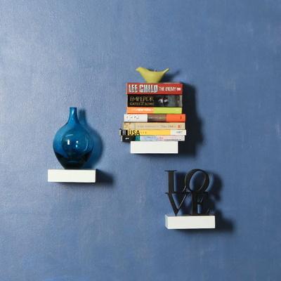 우드  플로팅 미니 벽걸이 선반  3개세트 150-3색상 옵션