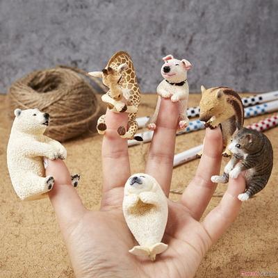 동물모형베이비허그(6종랜덤)손가락피규어