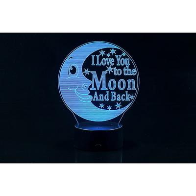 3D LED 무드등 초승달