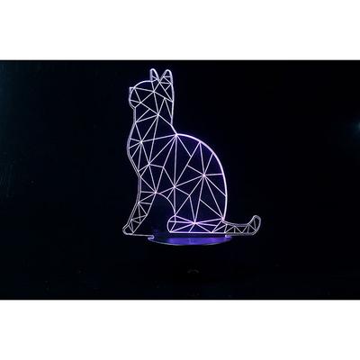 3D LED 무드등 고양이