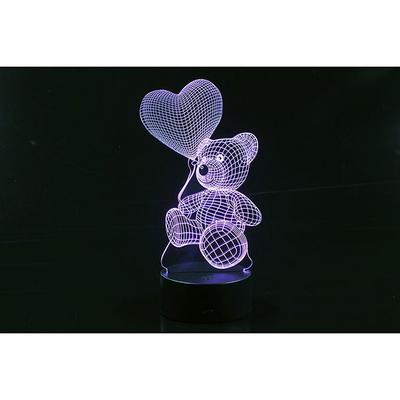 3D LED 무드등 곰돌이