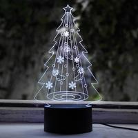 크리스마스 트리 LED 아크릴 USB 무드등 (RGB)