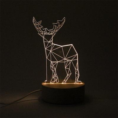 사슴 LED 아크릴 USB 무드등 (밝기조절가능)