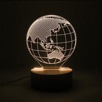 지구본 LED 아크릴 USB 무드등 (밝기조절가능)