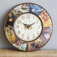 클래식 명화 단면 시계