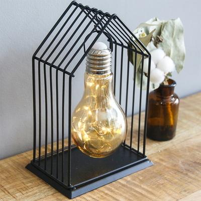 전구 하우스 B형 철제 와이어 LED 건전지 무드등