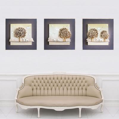 황금나무 부조 액자 3종 세트 골드 색상