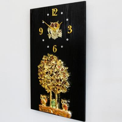 황금나무와 부엉이 액자 시계 40 60