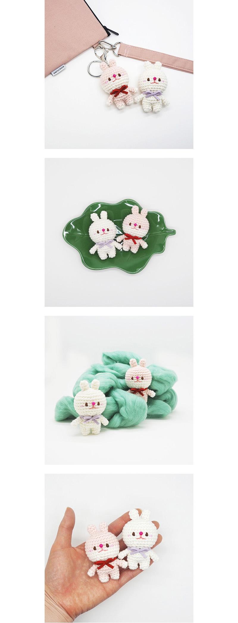 (손뜨개 DIY 키트) 꼬꼬마 코바늘 토끼 인형 (+튜토리얼 영상) - 이소의 꿈타래, 15,000원, 뜨개질, 소품 패키지