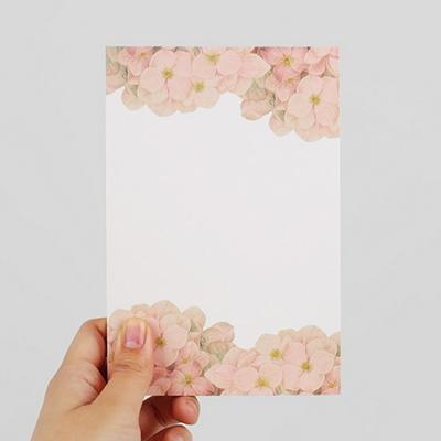 Letter Pad-01 hydrangea