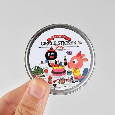 Circle Sticker Tin-09 Friends (GoolyGooly)