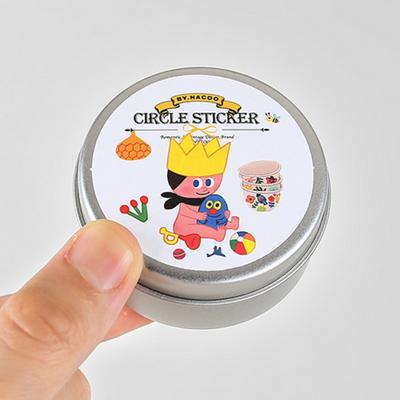 Circle Sticker Tin-10 Child (GoolyGooly)