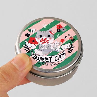Circle Sticker Tin-15 Salmon