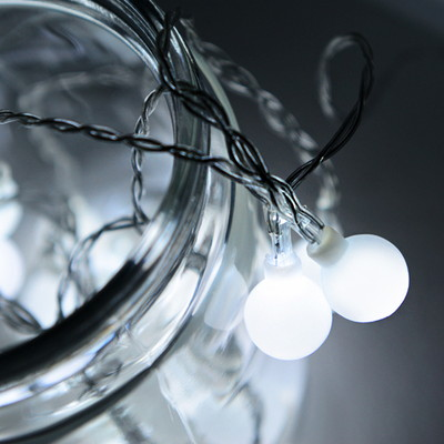 LED 20P 앵두 건전지(밧데리)전구 (백색)