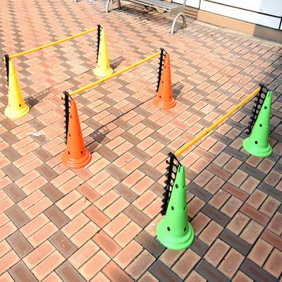 허들(높이뛰기 림보)용 3단 연결봉