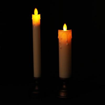 고급 LED 빈티지 양초(건전지형) 길쭉