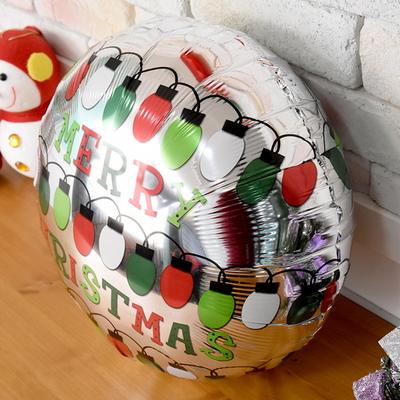 크리스마스 은박풍선 45cm - 라이트전구