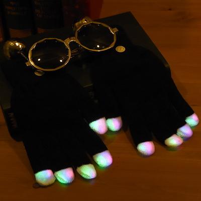 LED장갑 블랙 (3색점등)