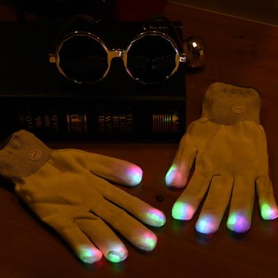 LED장갑 스켈레톤 화이트 (레인보우)
