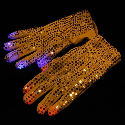 LED장갑 실버 스팡클 (3색점등)