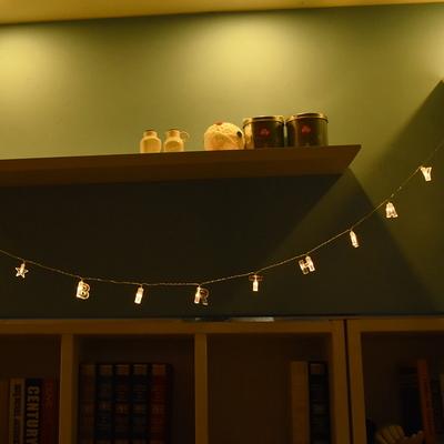 LED 해피버스데이 알파벳(투명) 건전지(밧데리)전구 가랜드 (웜)