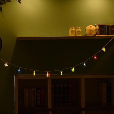 LED 해피버스데이 알파벳(칼라) 건전지(밧데리)전구 가랜드 (웜)