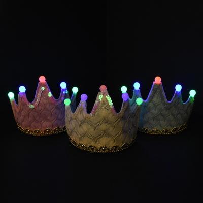 LED 레이스 미니왕관 [화이트]